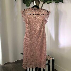 Dust rose lace dress
